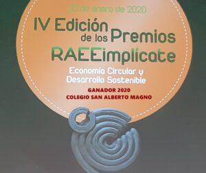 """Nuestro colegio galardonado por FAEL en la IV Edición de """"RAEE implícate"""""""
